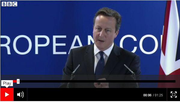 Cameron kraver forklaring av spanien